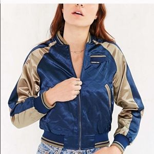 Members Only Satin Bomber Jacket